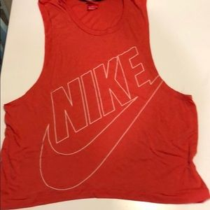 Women's Nike red muscle shirt